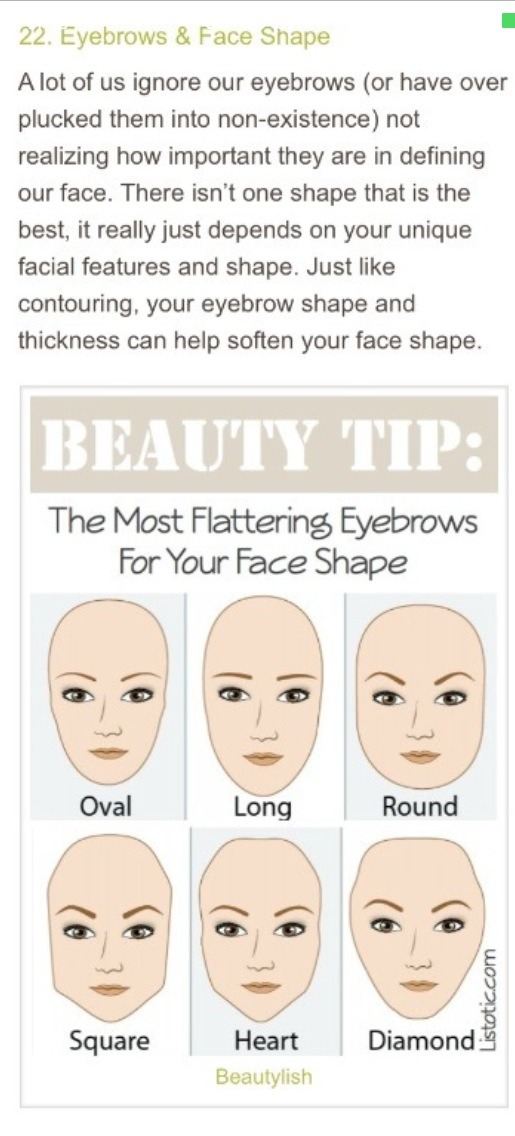 Make sure you find a brow shape that suits you (double tap)