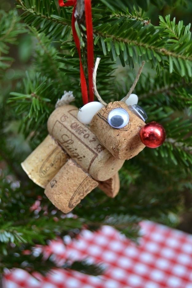 9. Rudolph Cork Ornament