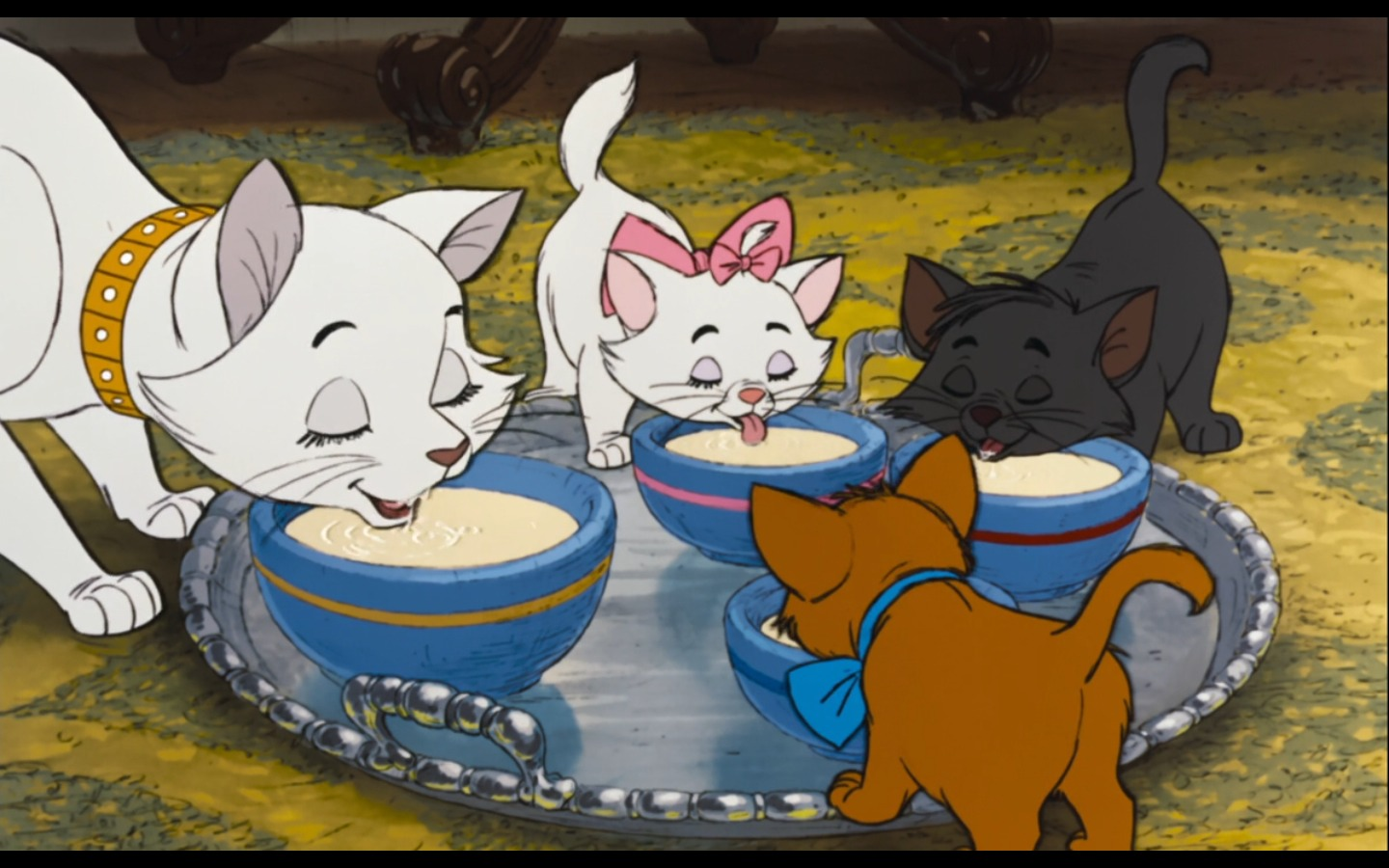 Cats are lactose intolerant. Even though the aristacats happily drank milk in my childhood! It is important that milk is only given in despiration. Chocolate, yoghurt are not good for cats