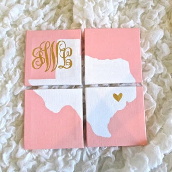 I love this idea! But maybe would be good for people who dont have a boring state (in example, Ive lived in WY and CO... Theyre just a rectangle might not be that interesting unless you maybe decide to pin-point places the recipient has been on your painted map)