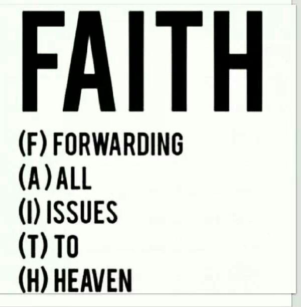 Faith :)