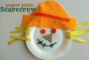 Paper scare crow plate