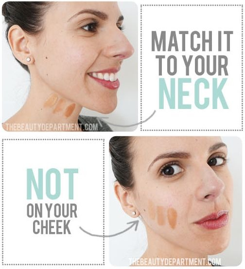 15. The Perfect Match This is the one thing that no matter how well it's applied, if it's the wrong color, it will look terrible! We all dread that our foundation will give us a ghost face or even worse, that dreaded orange jaw line.