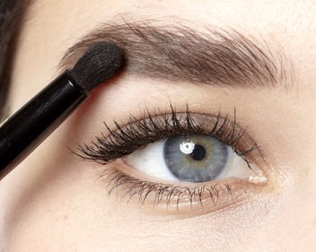 """Step 3  Brush on brow powder in a shade lighter than yours, to create the """"fullness effect""""."""