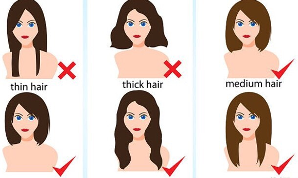 Find the best haircut to match your face shape! Not many people realize they have the wrong haircut or style for their face shape. Having the right one can make a huge difference in how thick your hair will look and how much more volume you can get!