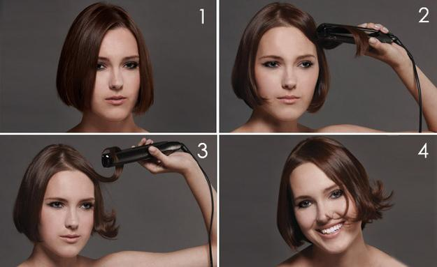 18. This simple flat-iron trick will give a short haircut body and movement.