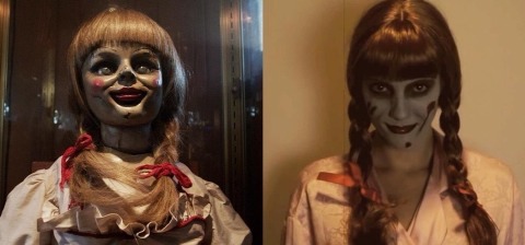 Put your hair in pig tails add white face paint or a light foundation to your face, make your eyes look dark with a dark brown eye shadow find a dress and voila