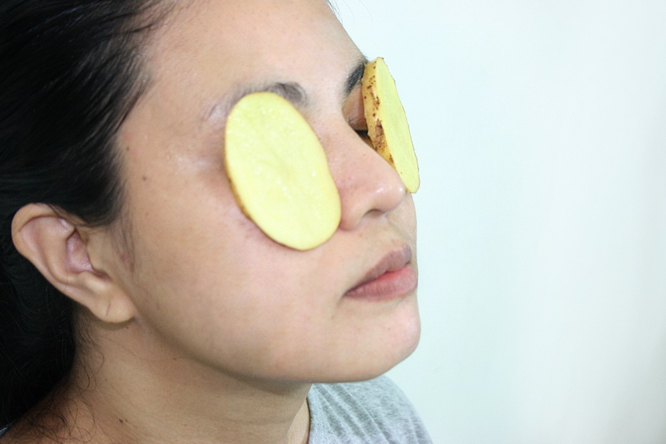 Eye Care Tip---A slice of raw potato can be placed under your eyes to reduce dark circles.