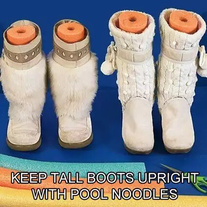 To help keep the shape of boots!