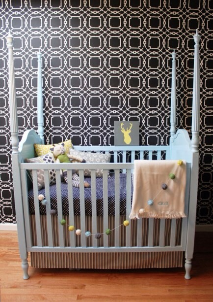 On a Budget  This nursery was designed on a budget with major purchases being from Craigslist for under $100.