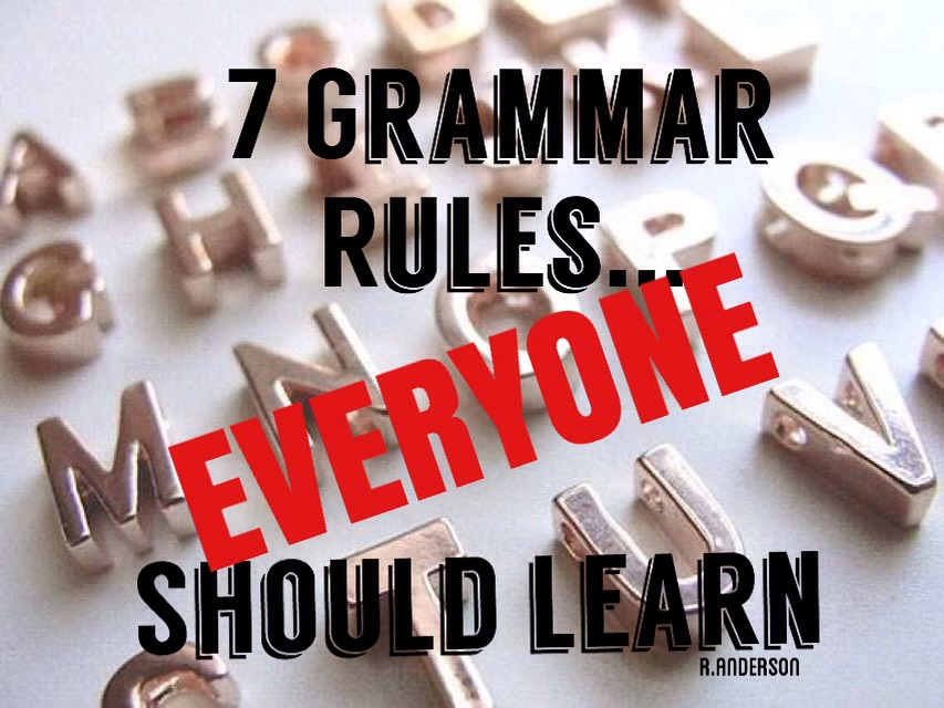 I hate bad grammar more than anything! But I also found out, there is a lot of stuff I had no idea I was doing incorrectly! I hope this helps any of you struggling with papers at school or anyone who just didn't ever get it, cause I know I sure didn't!