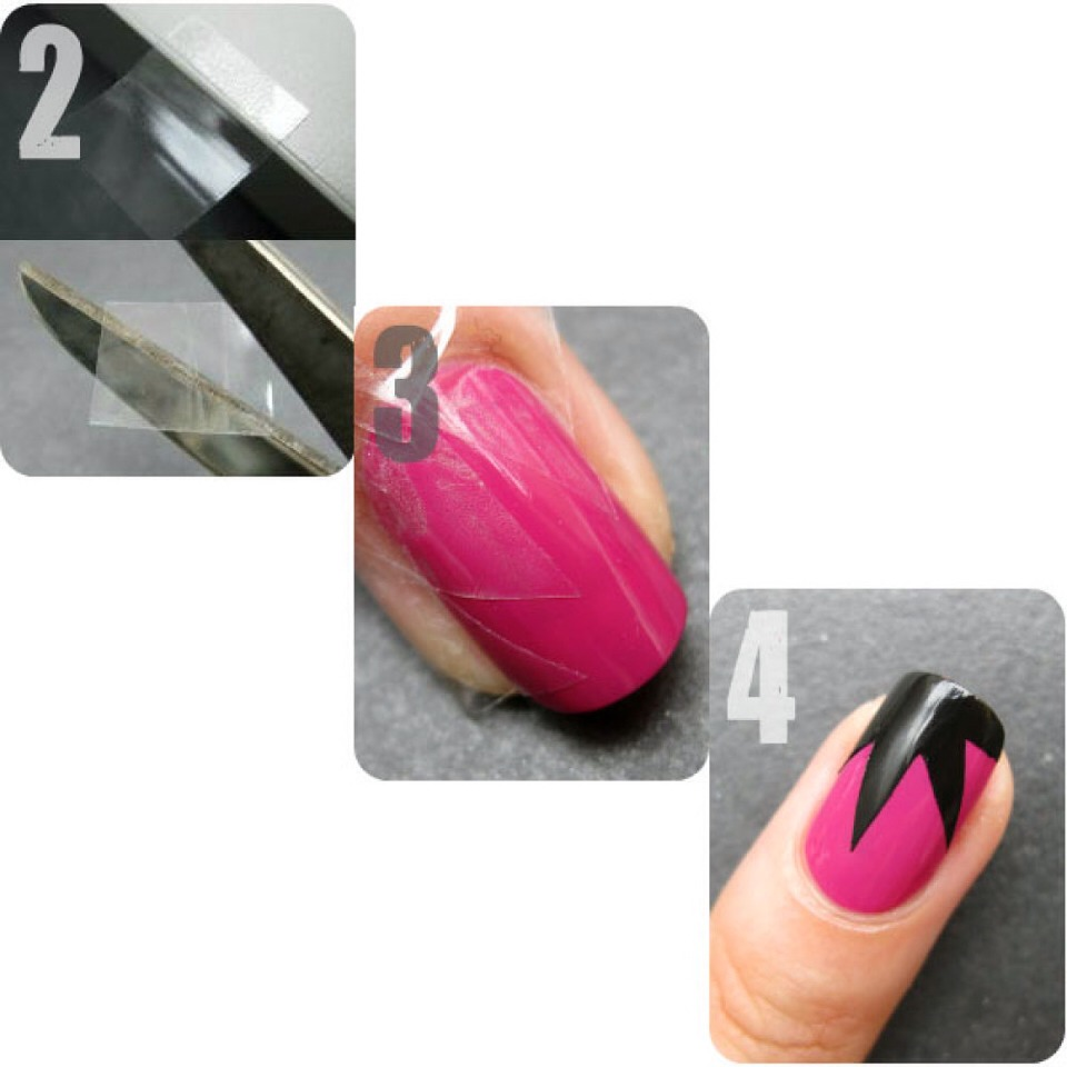 stationary tape when it comes to her nail designs--and the proof is in the results!