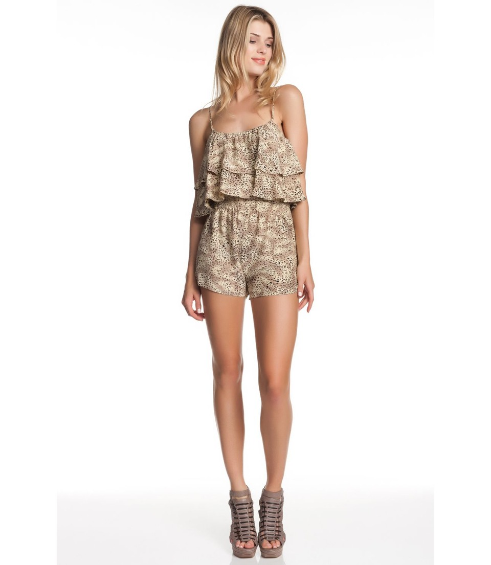 Summer outfit 3, frilly beach romper.