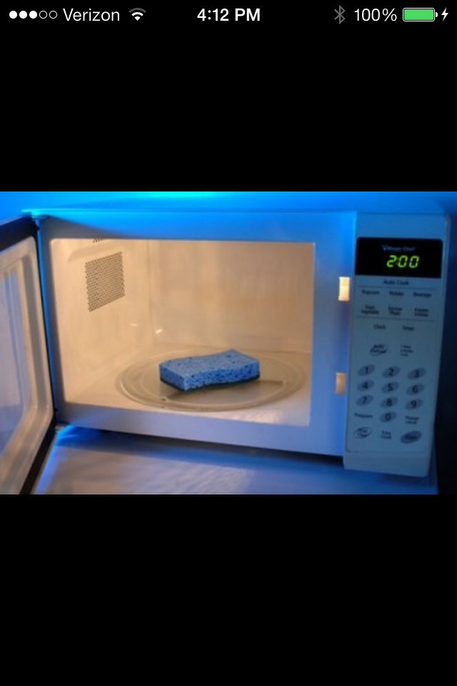 Microwaving your sponge for just 30 seconds can kill all the germs and get rid of the funky odor it may have! Even add some drops of lemon juice to give it a good clean feeling!