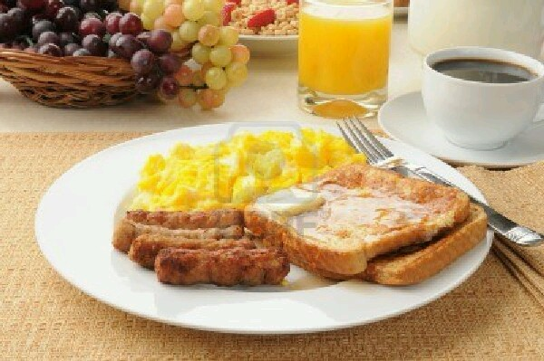 Don't skip breakfast. Studies show that people who skip breakfast are more likely to gain weight