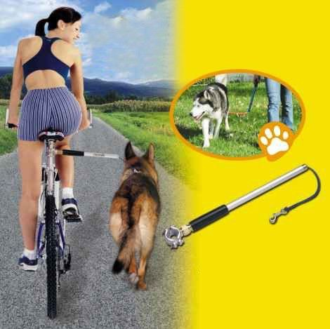 23.Walky Dog PLUS® Bike Leash Bring your best buddy along for a bike ride and maintain control. It's a great way to exercise your dog.The WalkyDog Plus features a patented internal spring system that acts like suspension when your dog pulls.It puts you in control – not your dog. $49.40