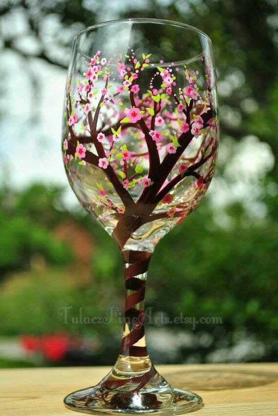 Hand Painted Wine Gl Ideas By