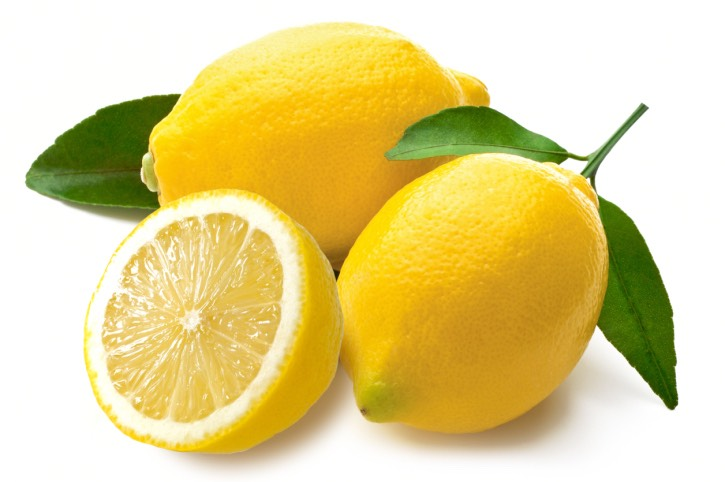 The juice of about half of a lemon.