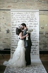 Write your vows on the aisle