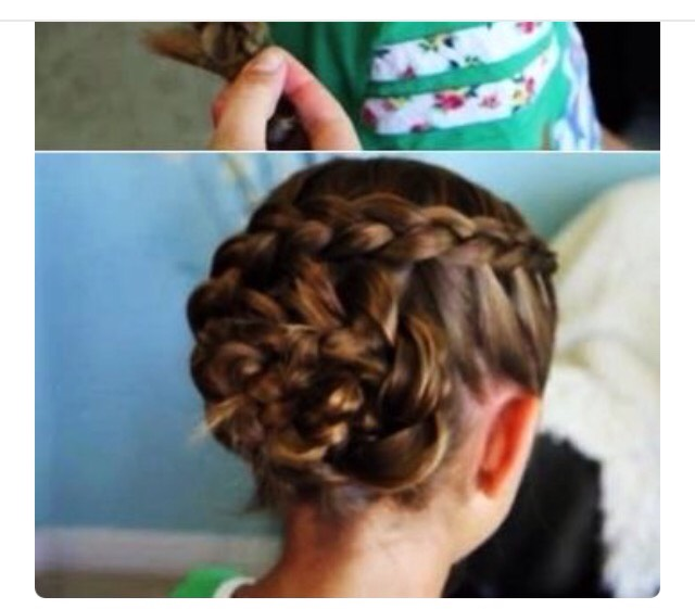 Definitely check out cute girl hairstyles (who did this hairstyle) on www.cutegirlhairstyles.com or watch hairstyle tutorials on YouTube.com > Cute girl hairstyles