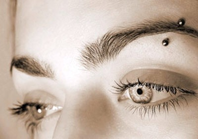 Eyebrow Piercing: any piercing through the skin of the eyebrow.