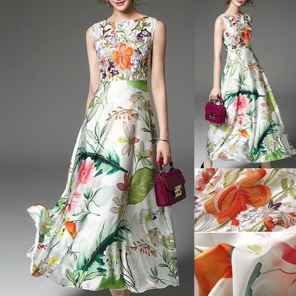 $74.79 http://m.romwe.com/Multicolor-Embroidered-Floral-Flare-Maxi-Dress-p-146940-cat-724.html