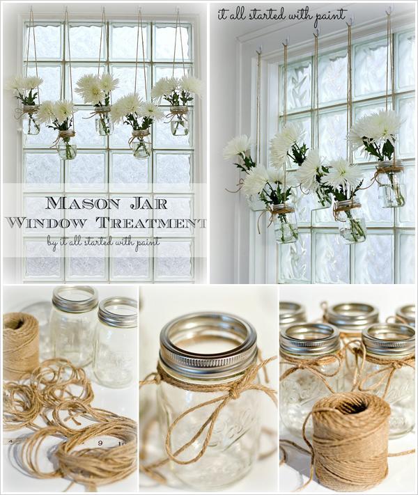Mason Jar Plant Holders