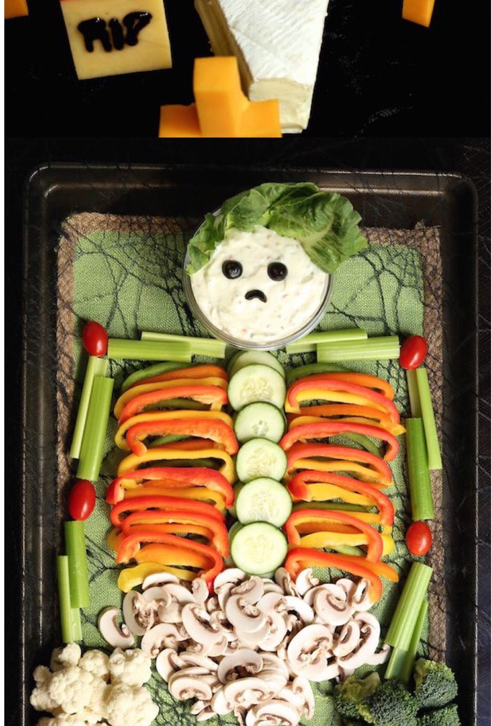 HALLOWEEN VEGGIE TRAY By Mel Mel Ks 💋❤️💄   Musely