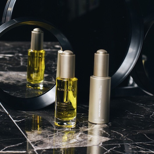 First, GoldfadenMD's Fleuressence Cell Oil is applied over cleansed skin in the morning.  This will protect and hydrate skin throughout the day. Then, the supreme Serum will work at night to restore and revitalize skin .