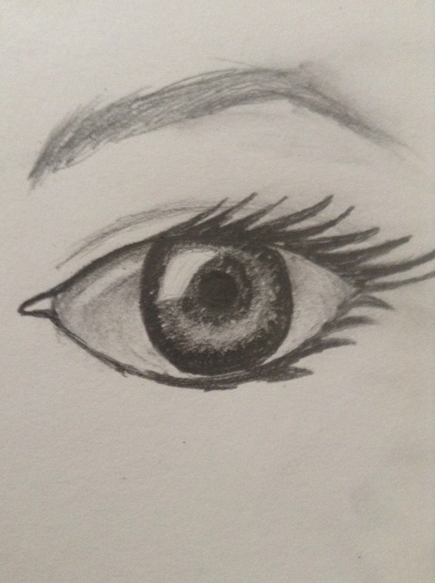 How to draw an eye easy👁