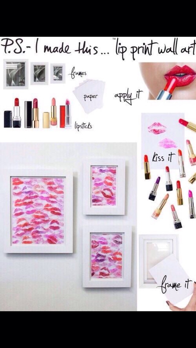 Beautiful lip wall art💋