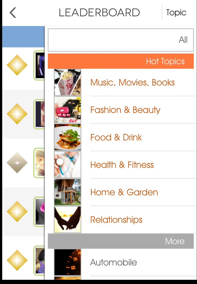 You can also filter the leaderboard by choosing topics that you are interested in and who has the most popular tips for these!