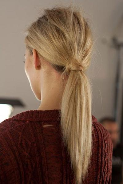 A cute and easy ponytail