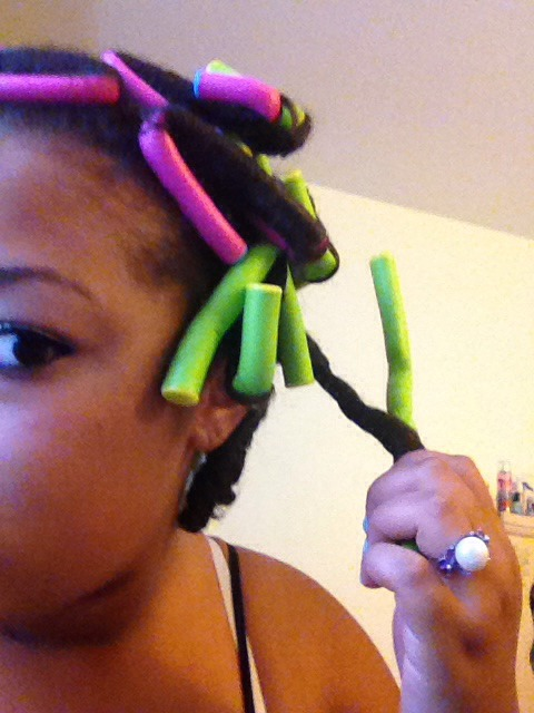 Twist the flexi rod out of the hair make sure you don't pull to hard it can cause the curl to fall and become frizzy