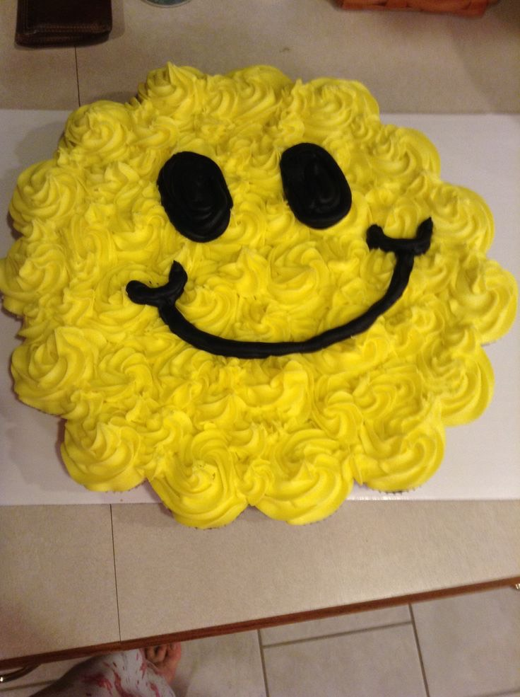 Rosie smile face cake