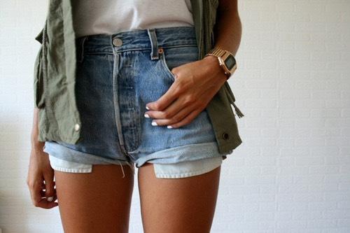 Denim shorts for summer☀️☀️