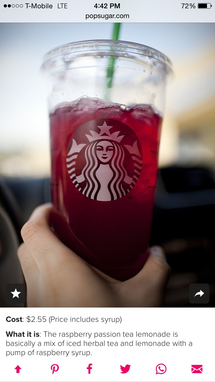 Strawberry passion tea lemonade