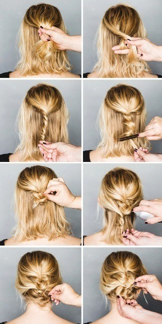 A lazyhairstyle with a pinch of class! This will look super pretty on any hair length.