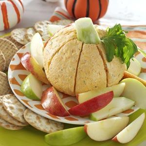 Pumpkin-Shaped Cheese Ball recipe!