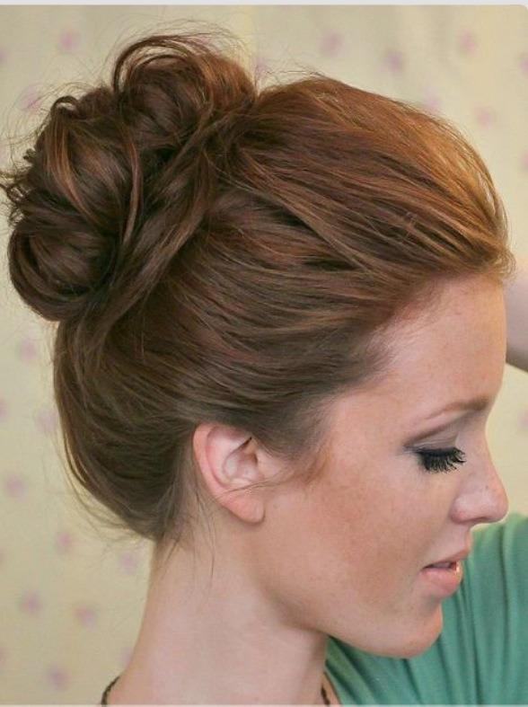 Super Easy Knotted Bun Updo And Simple Bun Hairstyle By