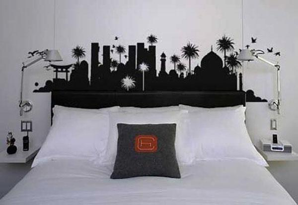 you have endless posibilities if you use a wall decal as a headboard