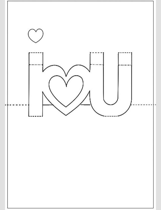 для открыток своими шаблоны руками 3d