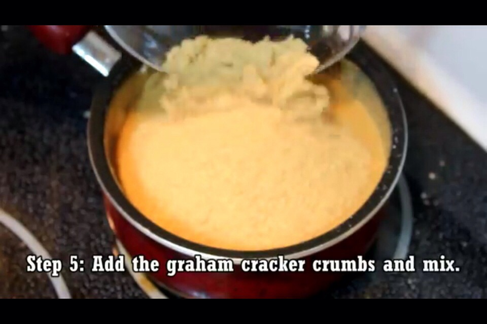 now just add graham crackers.
