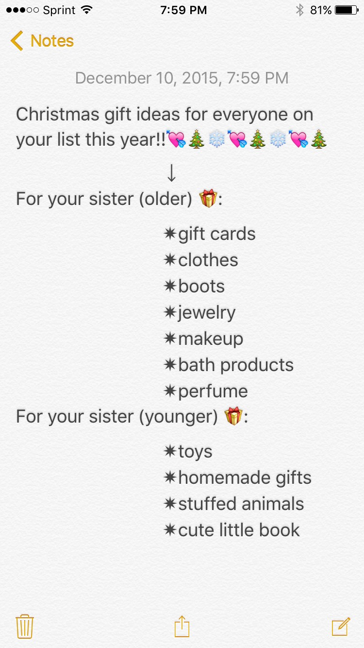 example of what to get your sisterpart 1 dont know what to get check out these websites for an older sister victoriassecretcom