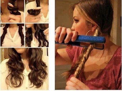 A simple way to curl your hair if you don't have a curling iron.