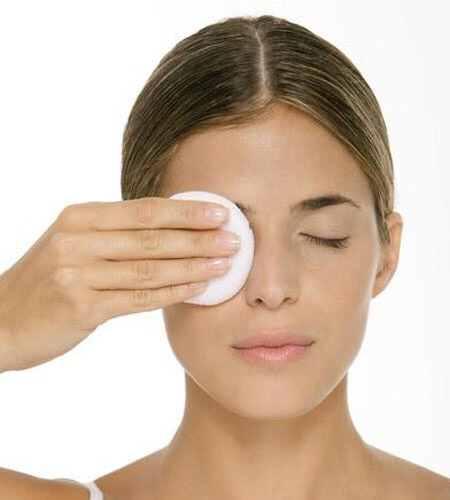 To remove makeup take oil (olive, coconut, castor, vitamin e oil etc.) put it on your face and wipe the makeup off.