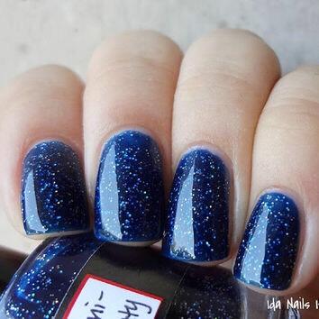 Dark Glittery Navy