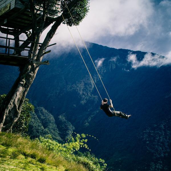 Swing at the End of the World; Baños de Agua Santa, Ecuador