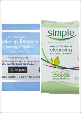 Face wipes: they feel great after work after dropping off kids or just for a pick me up especially when it's hot out. Make up removing wipes make sure u always have a way to take ur make up off at the end of the day