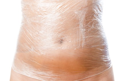 Do the body wrap at night for a week and take it off in the morning you lose at least a inch overnight